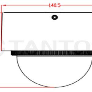 Цилиндрическая IP видеокамера Tantos TSi-Vn225VPZD (2.8-12)