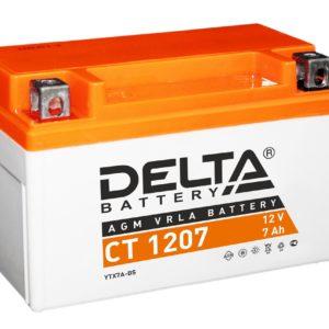 Delta CT 1207 (12V / 7Ah), Аккумуляторная батарея