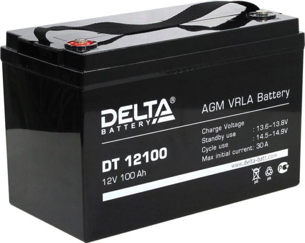 Delta DT 12100 (12V / 100Ah), Аккумуляторная батарея