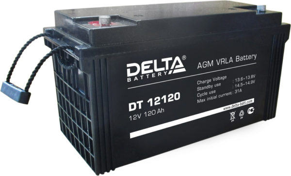 Delta DT 12120 (12V / 120Ah), Аккумуляторная батарея