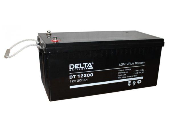 Delta DT 12200 (12V / 200Ah), Аккумуляторная батарея
