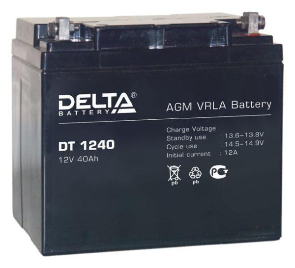 Delta DT 1240 (12V / 40Ah), Аккумуляторная батарея