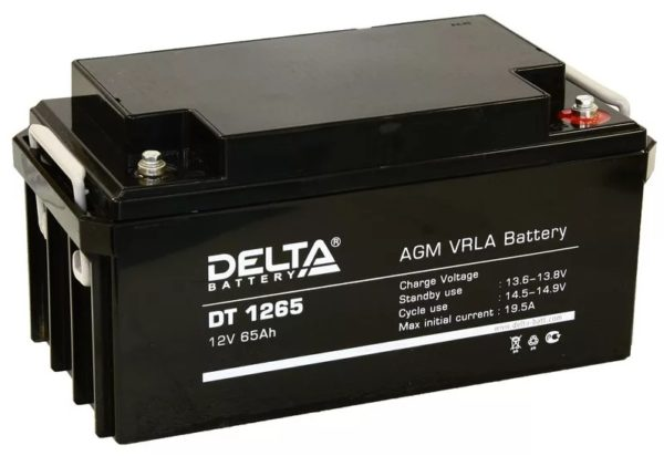 Delta DT 1265 (12V / 65Ah), Аккумуляторная батарея