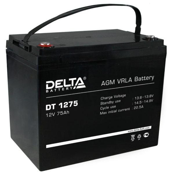 Delta DT 1275 (12V / 75Ah), Аккумуляторная батарея