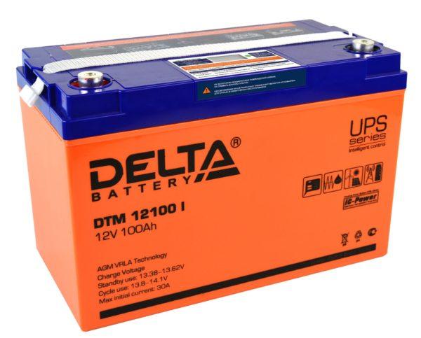 Delta DTM 12100 I (12V / 100Ah), Аккумуляторная батарея