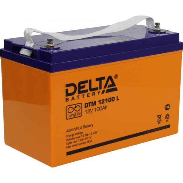 Delta DTM 12100 L (12V / 100Ah), Аккумуляторная батарея
