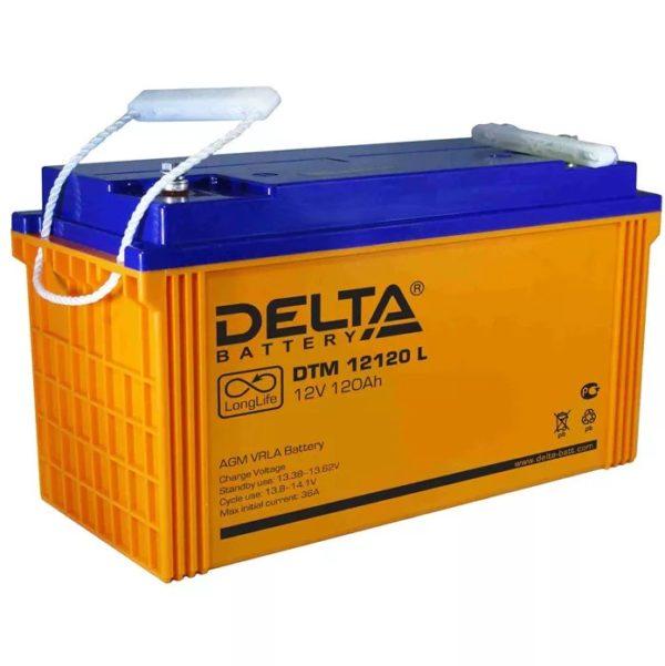 Delta DTM 12120 L (12V / 120Ah), Аккумуляторная батарея