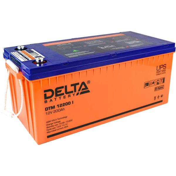 Delta DTM 12200 I (12V / 200Ah), Аккумуляторная батарея