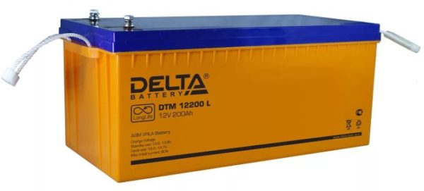 Delta DTM 12200 L (12V / 200Ah), Аккумуляторная батарея