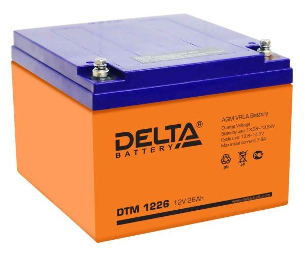 Delta DTM 1226 (12V / 26Ah), Аккумуляторная батарея
