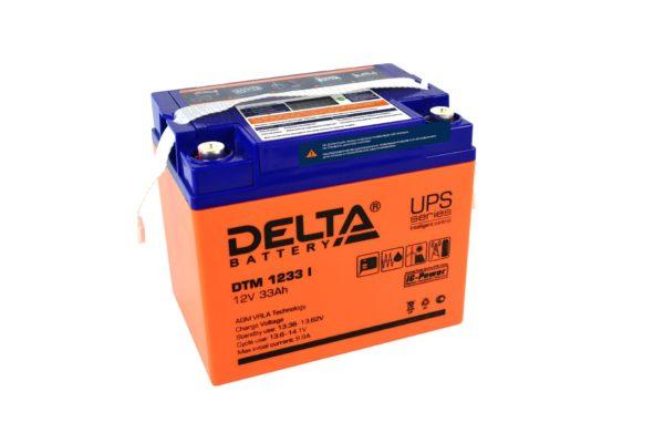 Delta DTM 1233 I (12V / 33Ah), Аккумуляторная батарея