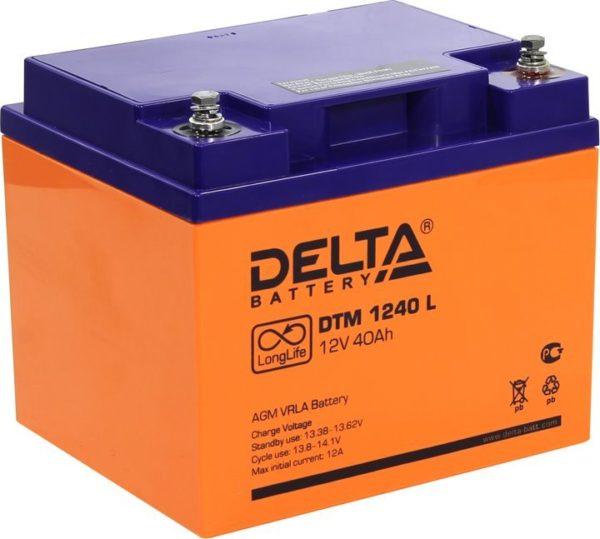 Delta DTM 1240 L (12V / 40Ah), Аккумуляторная батарея