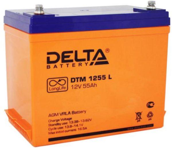Delta DTM 1255 L (12V / 55Ah), Аккумуляторная батарея