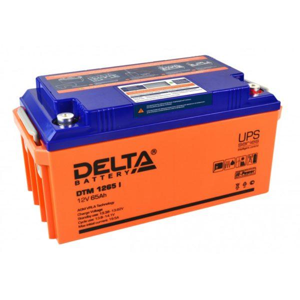 Delta DTM 1265 I (12V / 65Ah), Аккумуляторная батарея