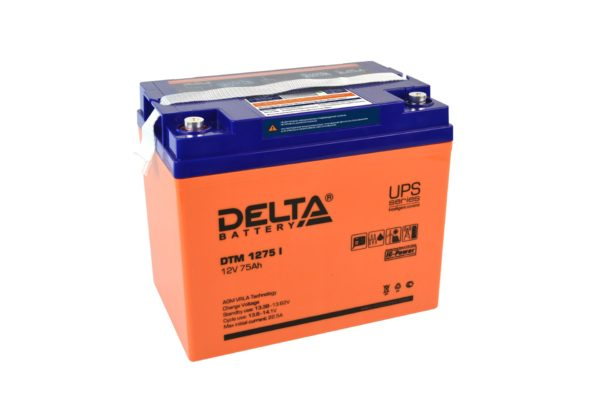 Delta DTM 1275 I (12V / 75Ah), Аккумуляторная батарея