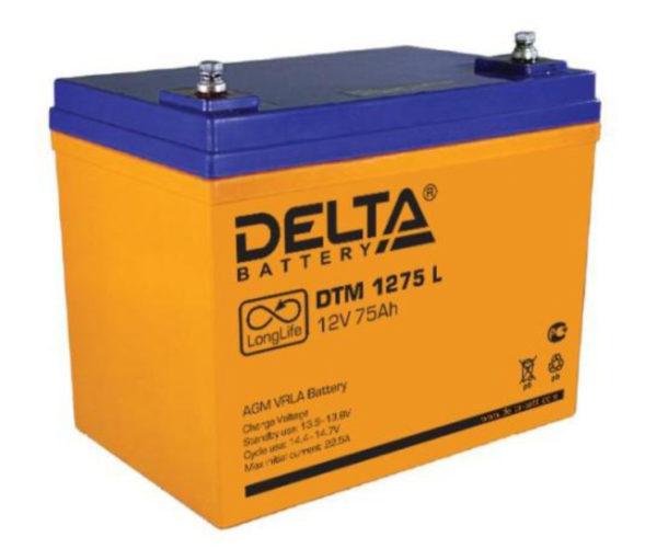Delta DTM 1275 L (12V / 75Ah), Аккумуляторная батарея