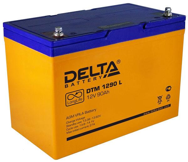 Delta DTM 1290 L (12V / 90Ah), Аккумуляторная батарея