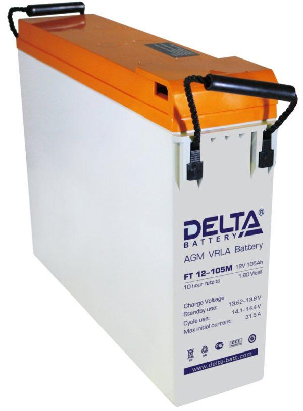 Delta FT 12-105 M (12V / 105Ah), Аккумуляторная батарея