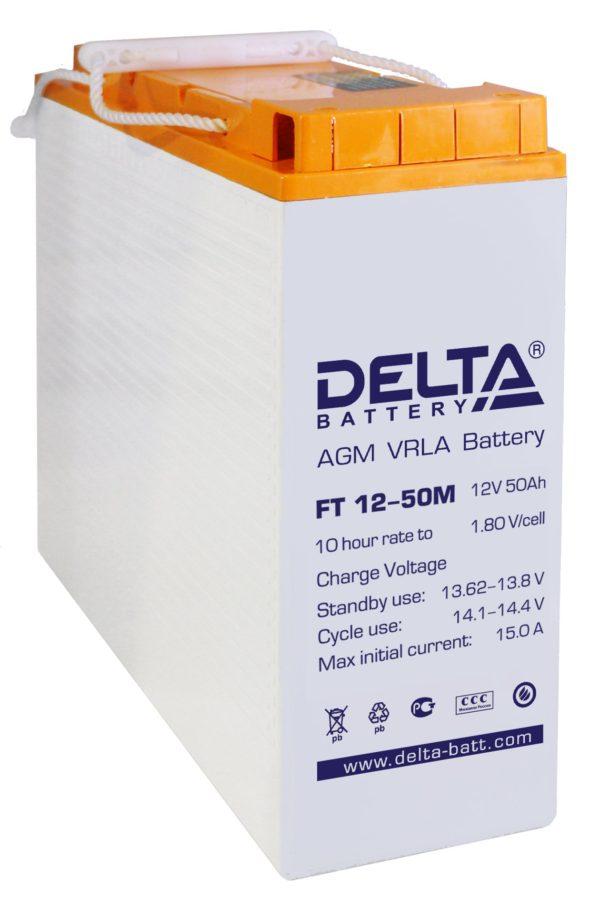 Delta FT 12-50 M (12V / 50Ah), Аккумуляторная батарея