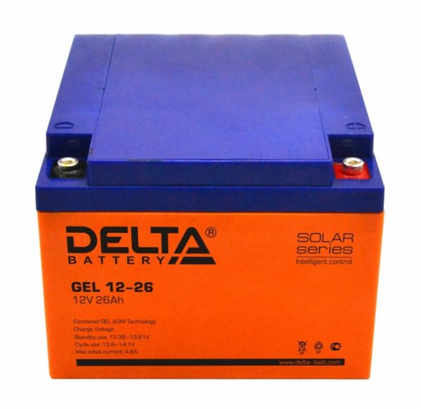 Delta GEL 12-26 (12V / 26Ah), Аккумуляторная батарея