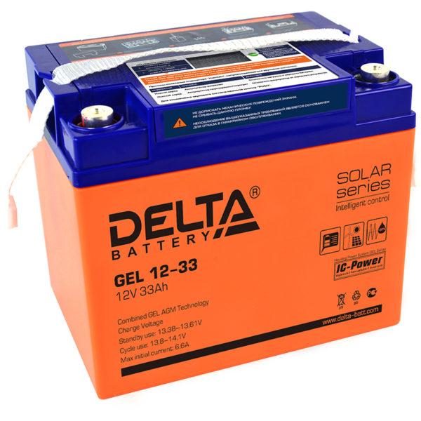 Delta GEL 12-33 (12V / 33Ah), Аккумуляторная батарея