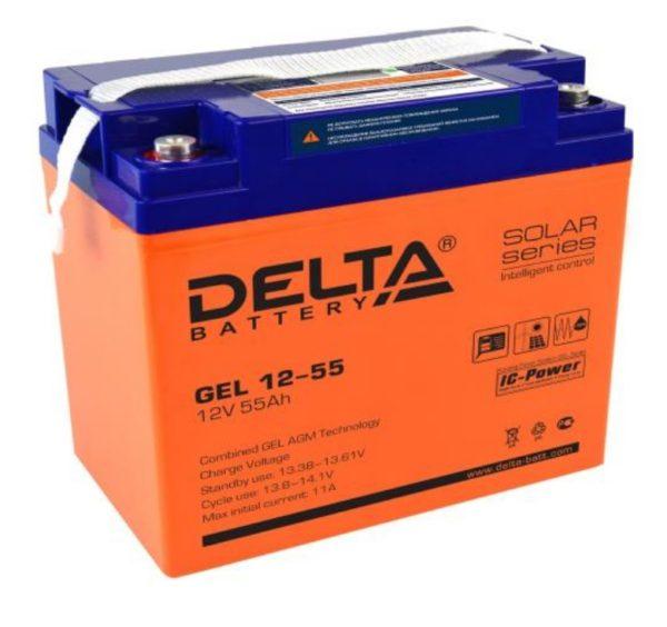 Delta GEL 12-55 (12V / 55Ah), Аккумуляторная батарея