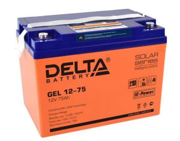 Delta GEL 12-75 (12V / 75Ah), Аккумуляторная батарея