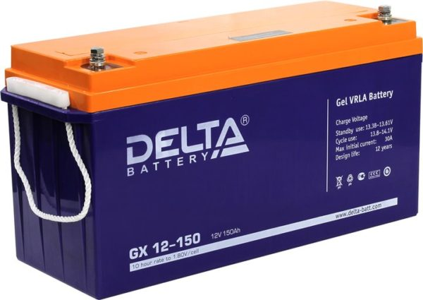 Delta GX 12-150 (12V / 150Ah), Аккумуляторная батарея