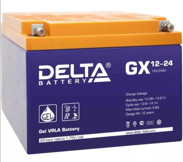 Delta GX 12-24 (12V / 24Ah), Аккумуляторная батарея