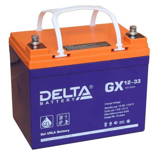 Delta GX 12-33 (12V / 33Ah), Аккумуляторная батарея