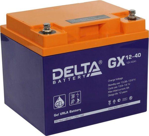 Delta GX 12-40 (12V / 40Ah), Аккумуляторная батарея