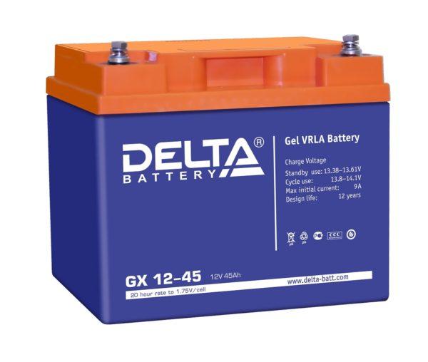 Delta GX 12-45 (12V / 45Ah), Аккумуляторная батарея