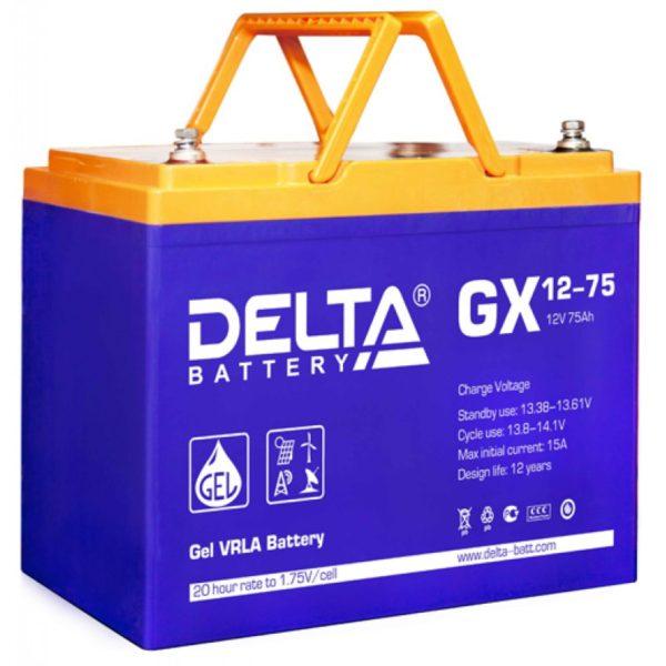 Delta GX 12-75 (12V / 75Ah), Аккумуляторная батарея