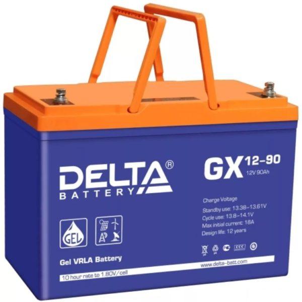 Delta GX 12-90 (12V / 90Ah), Аккумуляторная батарея