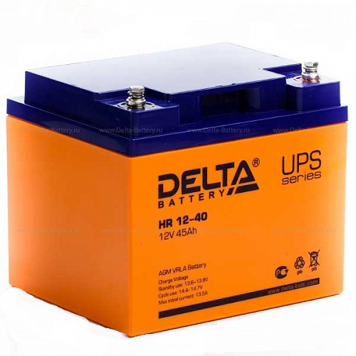 Delta HR 12-40 (12V / 45Ah), Аккумуляторная батарея
