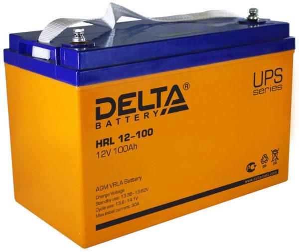 Delta HRL 12-100 (12V / 100Ah), Аккумуляторная батарея