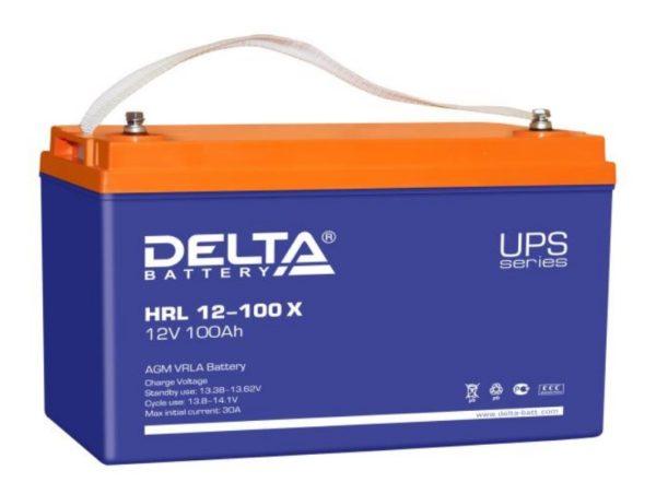 Delta HRL 12-100 X (12V / 100Ah), Аккумуляторная батарея