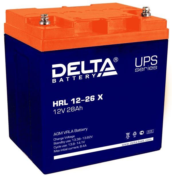 Delta HRL 12-26 X (12V / 28Ah), Аккумуляторная батарея
