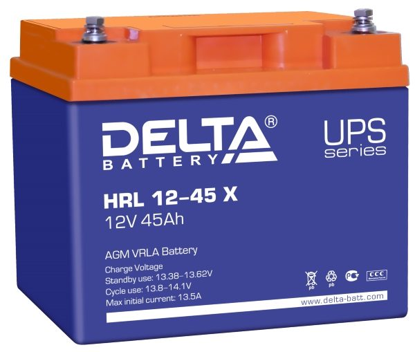Delta HRL 12-45 X (12V / 45Ah), Аккумуляторная батарея