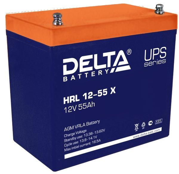 Delta HRL 12-55 X (12V / 55Ah), Аккумуляторная батарея