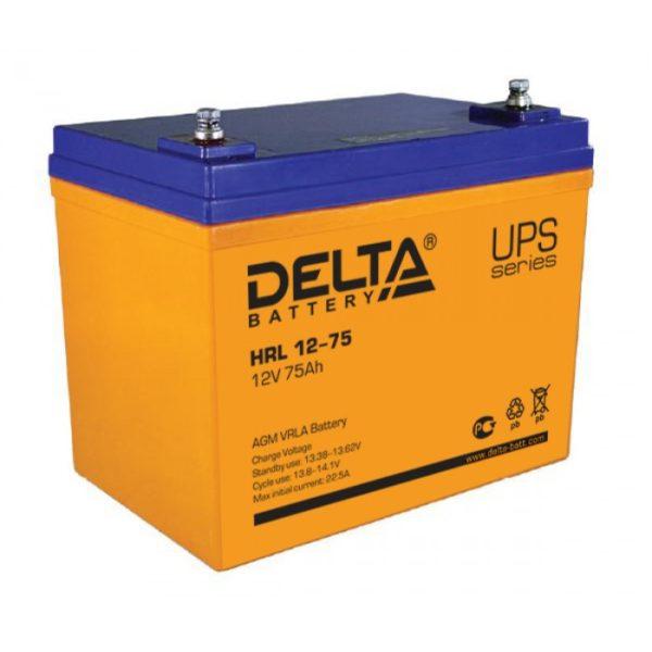 Delta HRL 12-75 (12V / 75Ah), Аккумуляторная батарея
