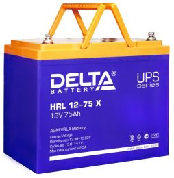 Delta HRL 12-75 X (12V / 75Ah), Аккумуляторная батарея