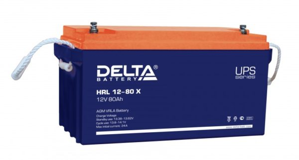 Delta HRL 12-80 X (12V / 80Ah), Аккумуляторная батарея