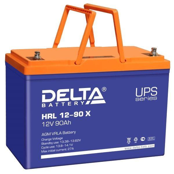 Delta HRL 12-90 X (12V / 90Ah), Аккумуляторная батарея