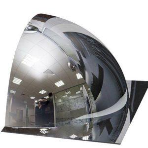 DetexLine 1/2 купольного сферического зеркала, 600 мм с внешним напылением без канта