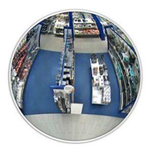 DetexLine Обзорное зеркало, 610 мм c белым кантом