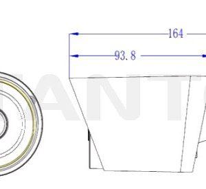 IP видеокамера Tantos TSi-Pe40FP-F (3.6)