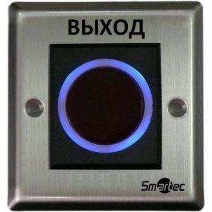 Кнопка ИК-бесконтактная, врезная, металлический корпус, НЗ/НР контакты, размер: 90х90х40 мм Smartec ST-EX121IR