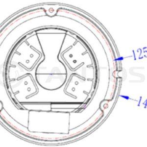 Купольная видеокамера Tantos TSi-Ee25VP (2.8-12)