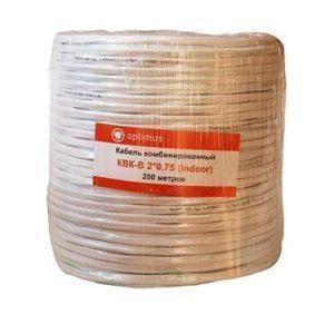 Optimus КВК-В 2*0.75 (indoor) 200м - Комбинированный кабель